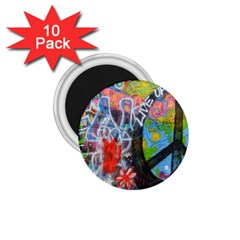 Prague Graffiti 1 75  Button Magnet (10 Pack)
