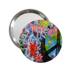 Prague Graffiti Handbag Mirror (2.25 )