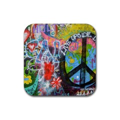 Prague Graffiti Drink Coaster (Square)