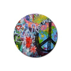 Prague Graffiti Drink Coaster (Round)