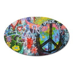 Prague Graffiti Magnet (Oval)