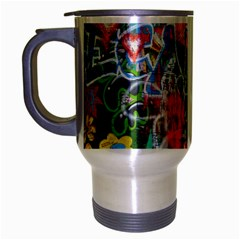 Prague Graffiti Travel Mug (Silver Gray)