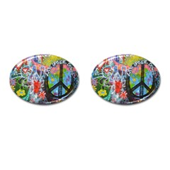 Prague Graffiti Cufflinks (Oval)