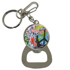 Prague Graffiti Bottle Opener Key Chain