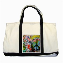 Prague Graffiti Two Toned Tote Bag