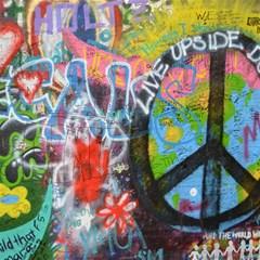 Prague Graffiti Canvas 12  X 12  (unframed)