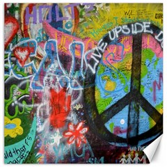 Prague Graffiti Canvas 16  X 16  (unframed)