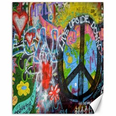Prague Graffiti Canvas 16  x 20  (Unframed)