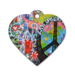 Prague Graffiti Dog Tag Heart (Two Sided)