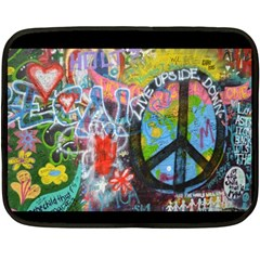 Prague Graffiti Mini Fleece Blanket (Two Sided)
