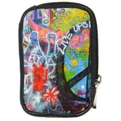 Prague Graffiti Compact Camera Leather Case