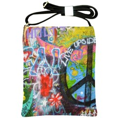 Prague Graffiti Shoulder Sling Bag