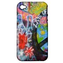 Prague Graffiti Apple Iphone 4/4s Hardshell Case (pc+silicone)