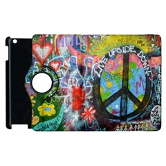 Prague Graffiti Apple iPad 3/4 Flip 360 Case