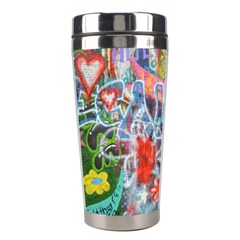 Prague Graffiti Stainless Steel Travel Tumbler