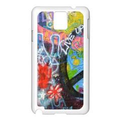 Prague Graffiti Samsung Galaxy Note 3 N9005 Case (White)