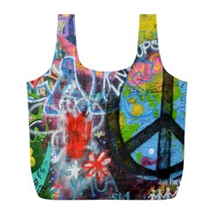 Prague Graffiti Reusable Bag (L)