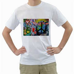 Prague Graffiti Men s T-Shirt (White)