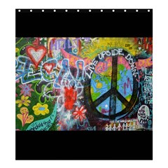 Prague Graffiti Shower Curtain 66  X 72  (large)