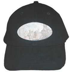 Eiffel Tower Paris Black Baseball Cap