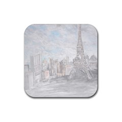 Eiffel Tower Paris Drink Coasters 4 Pack (Square)