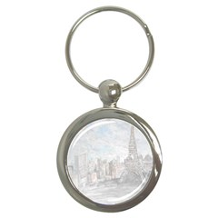 Eiffel Tower Paris Key Chain (Round)