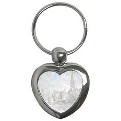Eiffel Tower Paris Key Chain (Heart)