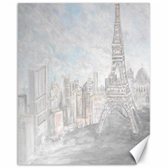 Eiffel Tower Paris Canvas 16  X 20  (unframed)