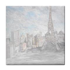 Eiffel Tower Paris Face Towel