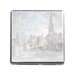 Eiffel Tower Paris Memory Card Reader With Storage (square)