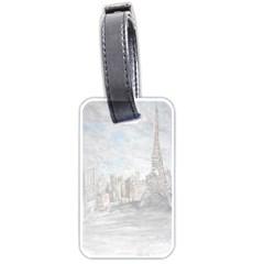 Eiffel Tower Paris Luggage Tag (One Side)