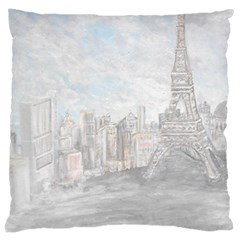 Eiffel Tower Paris Large Cushion Case (two Sided)