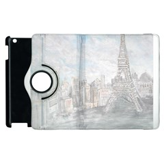 Eiffel Tower Paris Apple Ipad 3/4 Flip 360 Case
