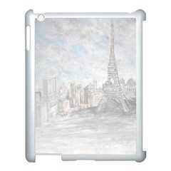 Eiffel Tower Paris Apple iPad 3/4 Case (White)