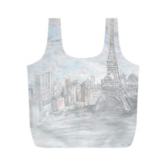 Eiffel Tower Paris Reusable Bag (m)
