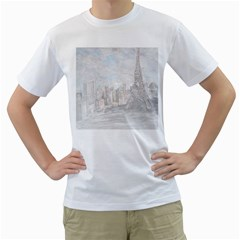 Eiffel Tower Paris Men s T-Shirt (White)