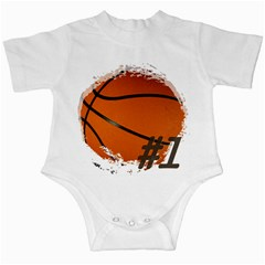 #1 Basketball  Infant Bodysuit
