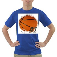 #1 Basketball  Men s T Shirt (colored)