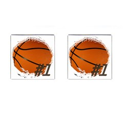 #1 Basketball  Cufflinks (Square)