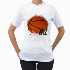 #1 Basketball  Women s T-Shirt (White)
