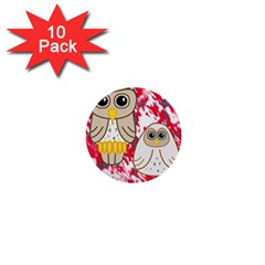 Two Owls 1  Mini Button (10 pack)