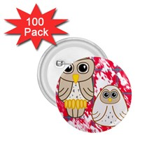 Two Owls 1 75  Button (100 Pack)