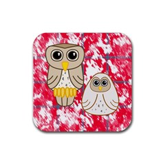 Two Owls Drink Coaster (Square)
