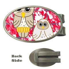 Two Owls Money Clip (Oval)