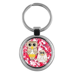 Two Owls Key Chain (Round)
