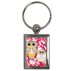 Two Owls Key Chain (rectangle)