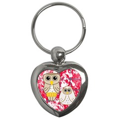 Two Owls Key Chain (Heart)