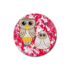 Two Owls Drink Coaster (Round)