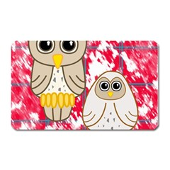 Two Owls Magnet (Rectangular)