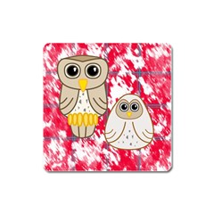 Two Owls Magnet (Square)